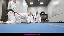 Self Defense Class Turns Into A Foursome Fuck F...