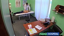 Fake Hospital Doctor offers blonde a discount on new tits in exchange for a good