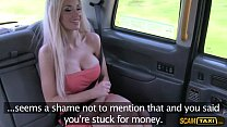Cute blonde lady bangs new cabbie in the backseat of the cab