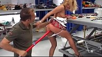 Horny slut fucked in workshop by Rocco Siffredi