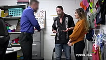 Teen suspect takes two cocks at the backoffice
