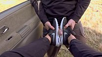 Outdoor Messy Deepthroat in Nike airmax and com... Thumbnail