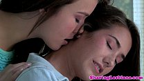 Awesome lesbo teens licking hairy boxes - 9Club.Top