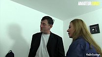 AMATEUR EURO - Hot Amateur Babes Shares Cock At The Office (Justyna C.&