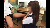 Sexy Japanese girl Yuki Hirai fucked in school ...