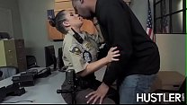 Policewoman Charity Bangs facialized in office interracial - download porn videos