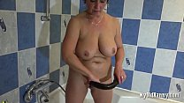 Screenshot Big Breasted  Mature Woman With Dildo