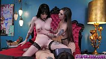 Lucky stepbrother gets his chance to fuck her horny stepsisters