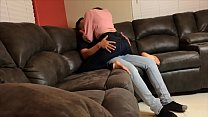 Gorgeous Girl gets fucked by Landlord in Couch ...