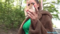 Public Agent Anna Polina gets her perfect boobs...