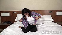 Shy Latina and her big tit GF first time porn Preview