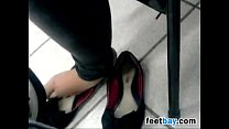Checking Out These Cute Exposed Feet