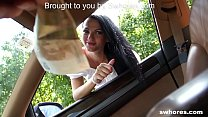 SWHORES.com Brunette Street Whore Picked up for CarFuck preview image