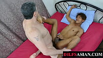 Twink Asian Fucked By Unsaddled DILF After Bj