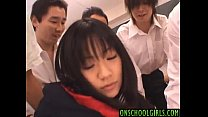 Saya Misaki is fucked in fingered crack and in mouth by fellows