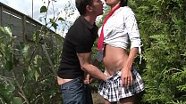 Sudden Anal in suburbs with the schoolgirl shor...