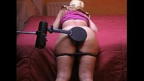 Spanker spanking machine a naughty girl with paddle and hairbrush