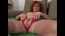 Sexy old spunker is a squirter when she masturb... thumb