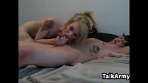 Blonde And Her Boyfriend Doing It thumbnail
