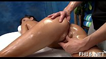 This sexy 18 year old hawt girl gets screwed hard from behind by her massage therapist preview image