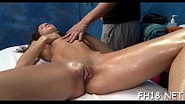 Gorgeous 18 year old hotty gets fucked hard after a fleshly rubdown! Thumbnail