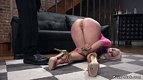 Cheating anal wife is fucked in bondage