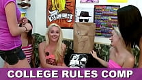 COLLEGE RULES - Collection Of Teen Sluts Fucking Frat Boys In The Dorms, Featuring Sadie Holmes, Keisha Grey, Dillion Carter & More!