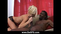 Monster black cock destroys slutty milf