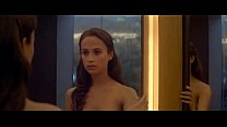 Alicia Vikander nude scenes in Ex Machina (2015)