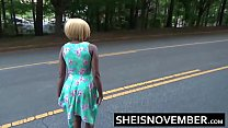 Ebony Blowjob Stranger In Middle Of Street Spread Booty and Young Pussy Open Ass صورة