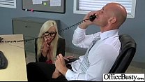 (nina elle) Busty Office Slut Horny Girl Banged clip-24