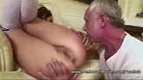 Asslicking 18 years Old with Grandpa's Thumb