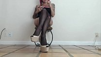 Heels Pantyhose and Leg Tease and Strip 8 min. Preview