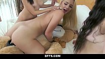 BFFS - Hot Teens Hump Bear During Sleepover preview image