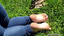 15157 I Want You to Cum ALL Over my Oiled Up Little FEET - PUBLIC foot show! preview