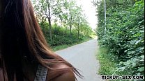 6209 Slim amateur girl Casey Jordan fucked in the woods for money preview