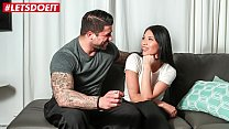 LETSDOEIT - Hot Brunette Teen Fucked To Climax On The Casting Couch pornhub video