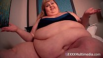 SSBBW Ivy Davenport Belly Play on Her Bed