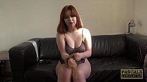 Redhead subslut Kitty Misfit roughed up by Pascals huge dick