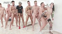 Pissing Overdrive #2 Charlotte Sartre gets 6 guys with Balls Deep DAP, Gapes, Piss d. & Facial GIO1087