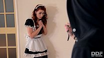 Gorgeous redhead maid Isabella Lui gets Hard Anal by Burglar thumbnail