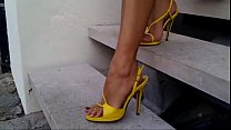 Yellow High Heels Red Nails - Met her from Write me on Fucked her from My Affair