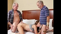 Teen Naomi Alice Gets Shared By Horny Old Men