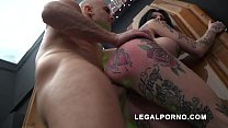 Megan Inky first time on LP with nasty deepthroat & balls deep DP S006 preview image