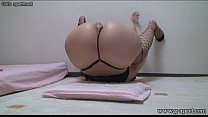 Peeping Japanese Babe Open-wide Leg Stretch Thumbnail