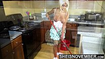 6530 Areolas Are Massive On Sexy Step Daughter With Perky Nipples Saggy Natural Boobs , Skinny Black Babe Msnovember Cleaning Hot Kitchen Before Father Gets Home HD On Sheisnovember preview