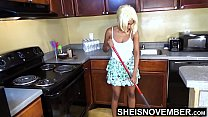 7660 Areolas Are Massive On Sexy Step Daughter With Perky Nipples Saggy Natural Boobs , Skinny Black Babe Msnovember Cleaning Hot Kitchen Before Father Gets Home HD On Sheisnovember preview