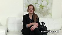 Fake agent recording fuck with brunette preview image