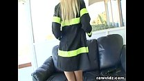 Hot Blonde Firewoman Gets Fucked By Her Chief
