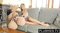 Blonde model Sicilia and Kira Queen sex with teddy bear[Part 1] preview image